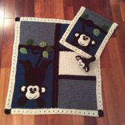 My Lil Monkey Blanket Set