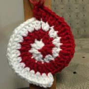 Peppermint Spiral Ornament