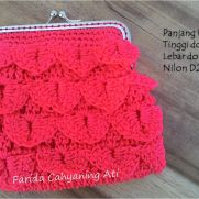 Crocodile stitch frame purse