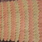 Knitted Frills blanket