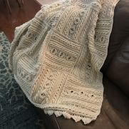 Crocheted Divine Textured Throw