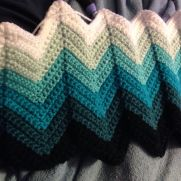 Teal color fade