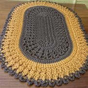 Crochet Rug Oval Mermaid - PERFECT FOR WHOLE HOUSE  😍😍