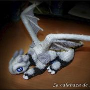 Black crochet dragon with Armor