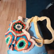 More bags made from hexagons
