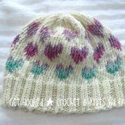 Heart knit hat
