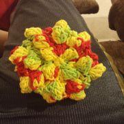 popcorn stitch body scrubbie
