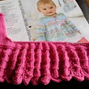 pretty in hot pink lacey baby cardigan