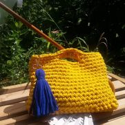 Yellow Bag, Crochet Bag, Summer Bag, Cotton Bag, Handmade Bag, Women Bag, Handmade Bag