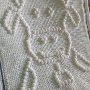 Crochet blanket baby cow