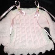 ribbon aran jumper