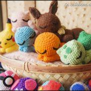 Sleepy Pokemons Amigurumis - Pokemon - La Calabaza de Jack
