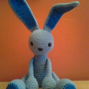 Ice Blue the Alien Bunny