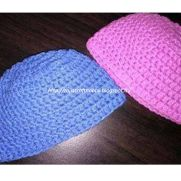 Simple Crochet Beanie Cap for Newborn