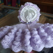 Lilac Cardi and Hat