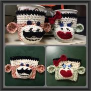 Sock Monkey Cup Cozies