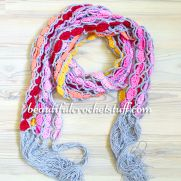 Crochet Colorful Scarf Free Pattern