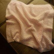Popcorn stitch baby blanket