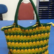 Sunny green bag
