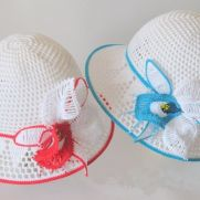 Baby hat with orchild