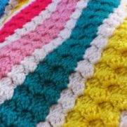 lovely bright summer baby blanket!
