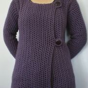 Light Purple Double Button Mesh Cardie