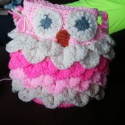 Crocodile Stich Owl purse