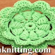 CROCHET PUFF STITCH FLOWER