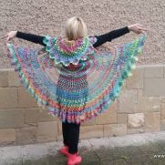 Crochet Bohemian Vest, Rainbow Bohemian Vest, Multicolor Festival, Hippie Bolero