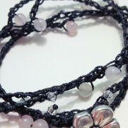 Bohemian Style Inspired Crochet Wrap Bracelet