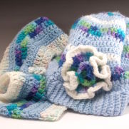 Blue Slouch Hat and Cowl