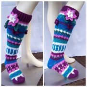 Flower Knee Highs