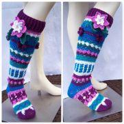 Flower Knee Highs