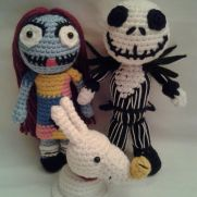 Nightmare Before Christmas - Jack, Sally, Zero