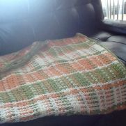 Crochet plaid lap top afghan