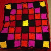 Bright patchwork granny