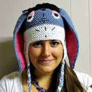 Eeyore inspired crocheted Hat
