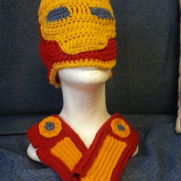 Iron man hat and wristers