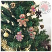 Gingerbread Family Christmas Tree Decorations