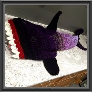 Black and Purple Ombre Shark Blanket