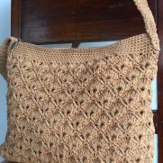 Fan and v-stitch bag