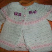 crochet matinee jacket