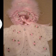 rose bolero and hat