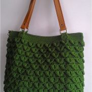 Crocodile stitch tote bag