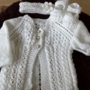 sparkly baby cardigan and matching set