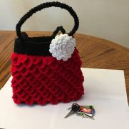 Crocodile Stitch Red Bag