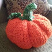 Crochet large pumpkin