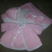 Pink baby layette