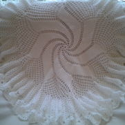 Windmill design circular baby shawl