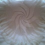 Windmill design circular baby shawl